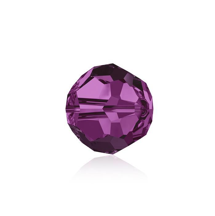Swarovski Crystal Beads - Pack of 6 Round 5000 - 8mm Fuchsia