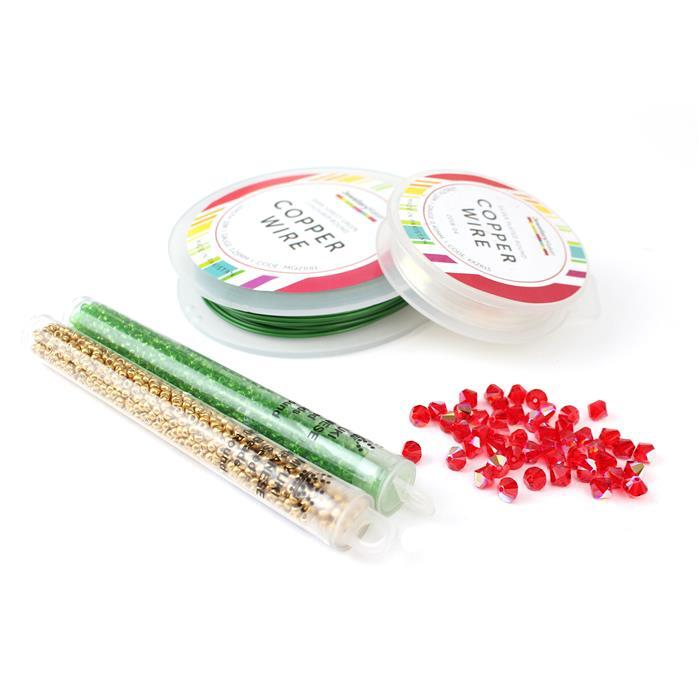 Beaded Christmas Wreath Inc Miyuki Transparent Lime Seed Beads 8/0
