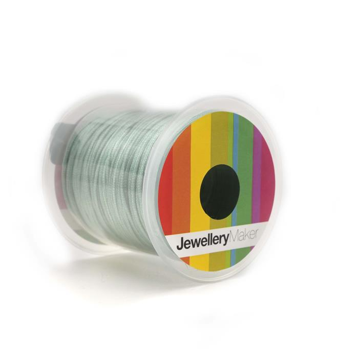 Teal Woven Nylon Cord, 1mm, 30m Spool