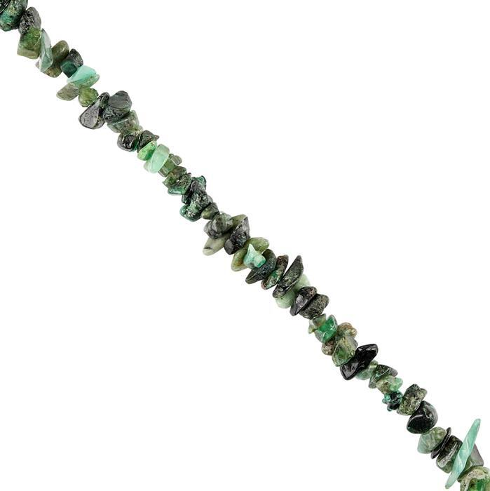 165cts Emerald Plain Small Nuggets Approx 3x2 to 7x4mm, 98cm Strand.