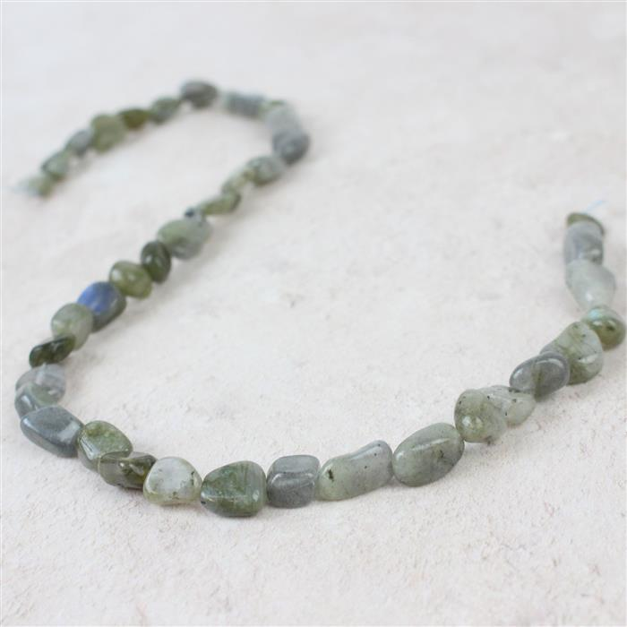 130cts Labradorite Nuggets Approx 7x8 to 14x9mm, 38cm strand