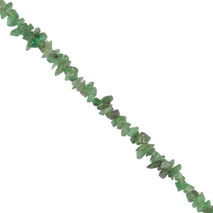 80cts Tsavorite Garnet Plain Nuggets Approx 2x1 to 6x2mm, 78cm Strand.