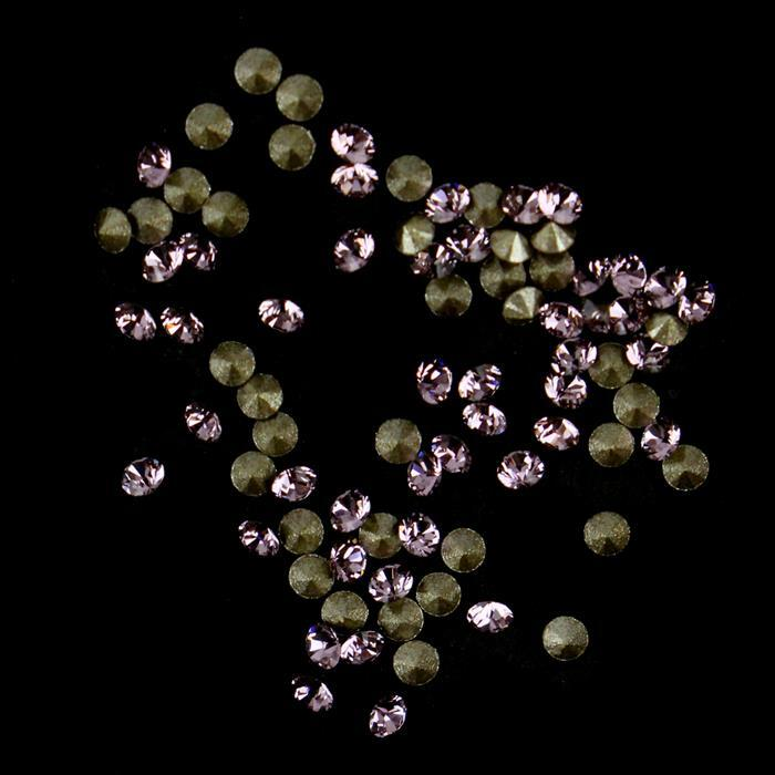 Swarovski Light Amethyst Round Stones Approx 1.65mm (200pk)