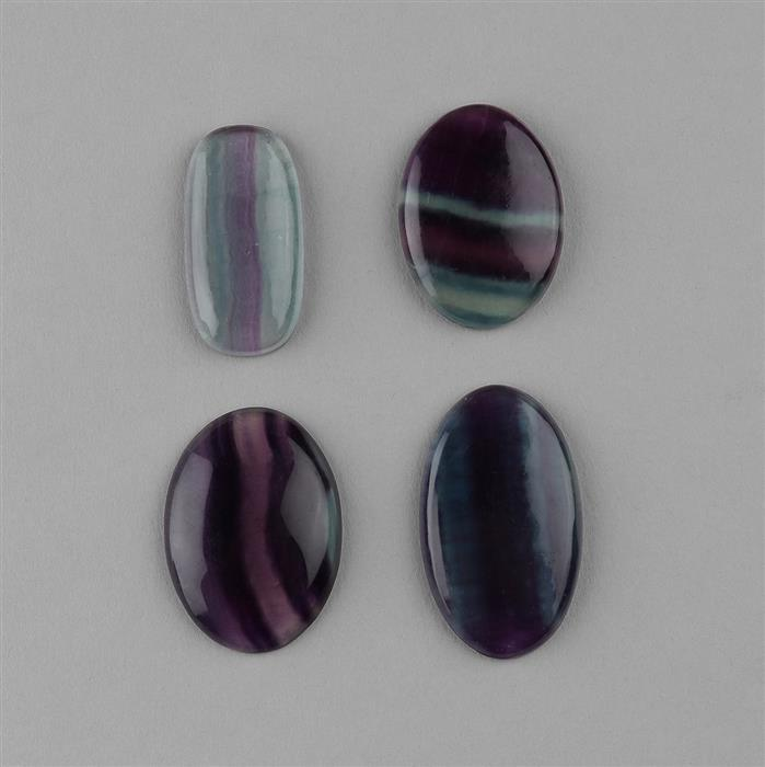 180cts Multi Colour Fluorite Multi Shape Cabochons Assortment.