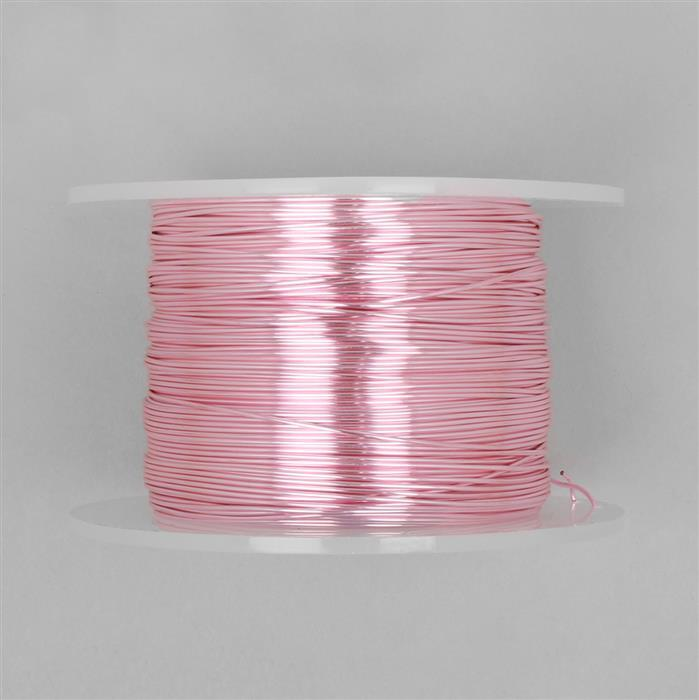 100m Pink Coloured Copper Wire 0.8mm