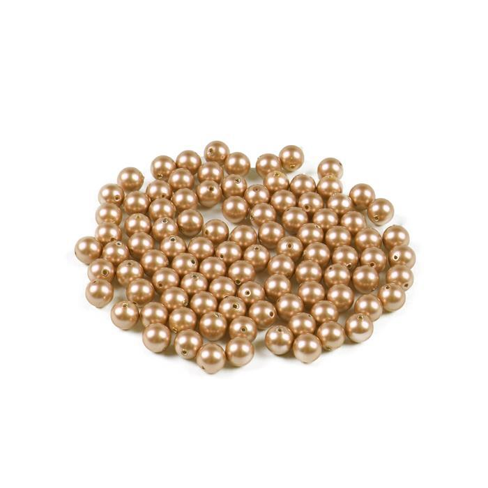 Swarovski 5810 Round Drilled Vintage Gold 6mm Pearl 100pk