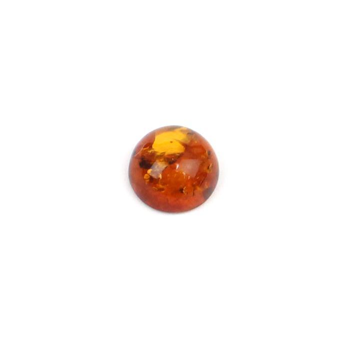Baltic Cognac Amber Round Cabochon 10mm