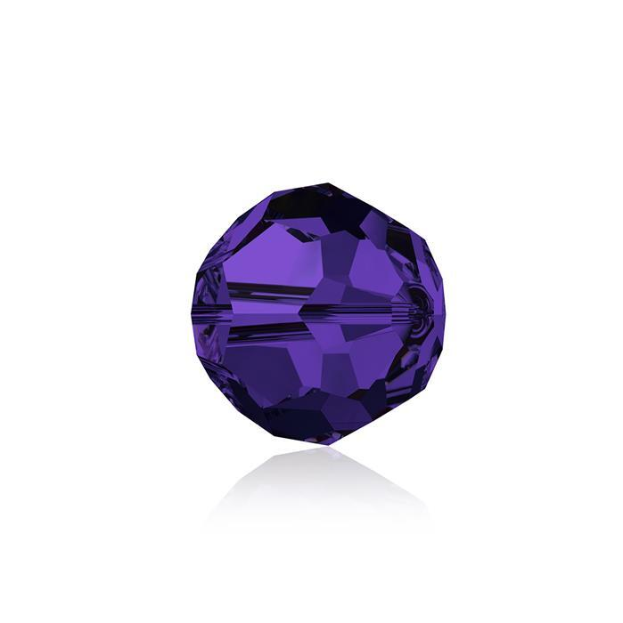 Swarovski Crystal Beads - Pack of 6 Round 5000 - 8mm Purple Velvet