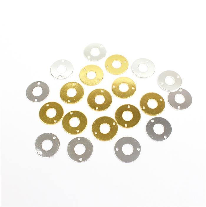 Gold & Silver Plated Circle Connector Blanks!