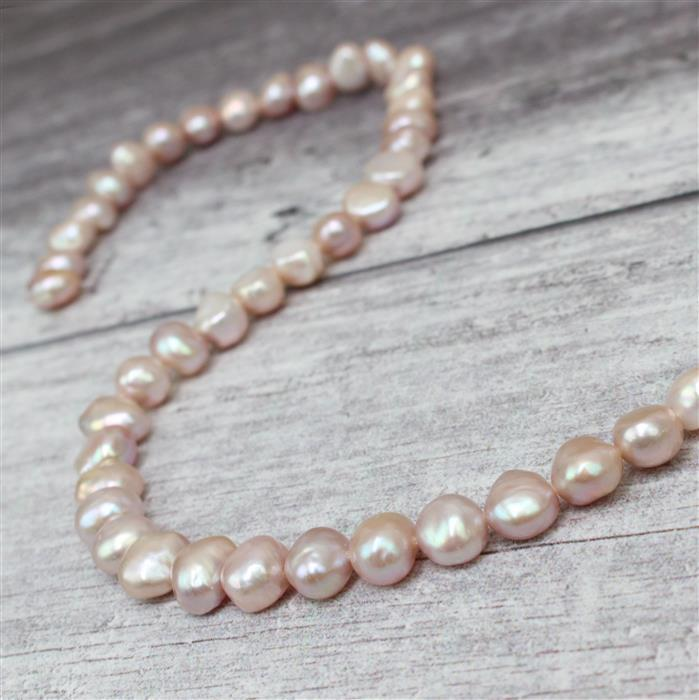 Lavender Freshwater Cultured Nugget Pearls Approx 9x8mm