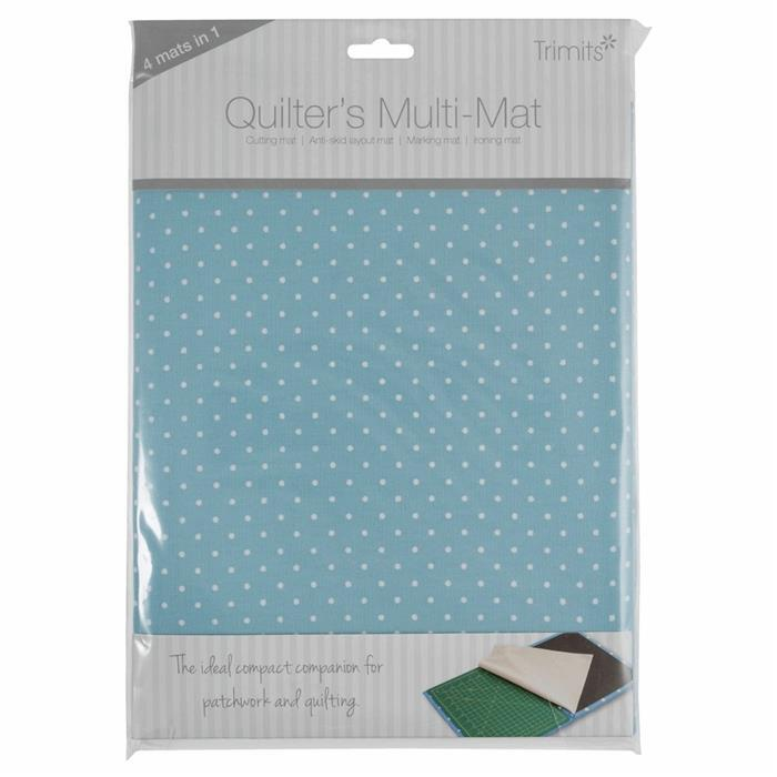 Quilter's Blue Spot A4 Ironing and Cutting Multi-Mat 30 x 24cm