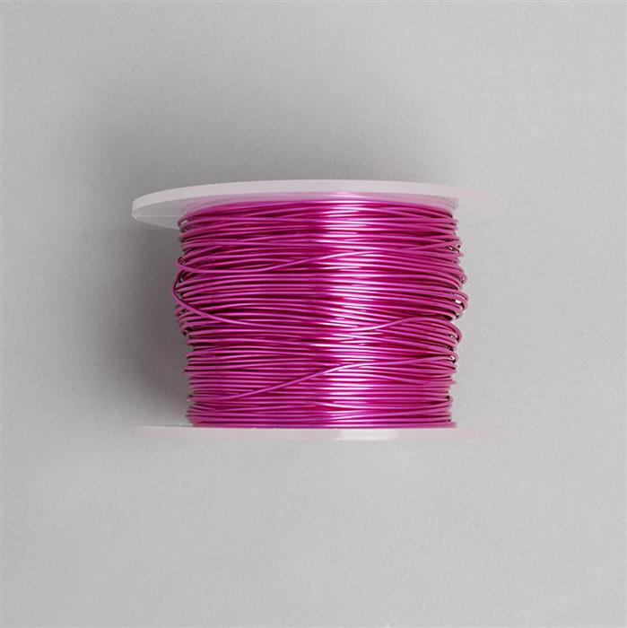 50m Fuchsia Coloured Copper Wire 1mm