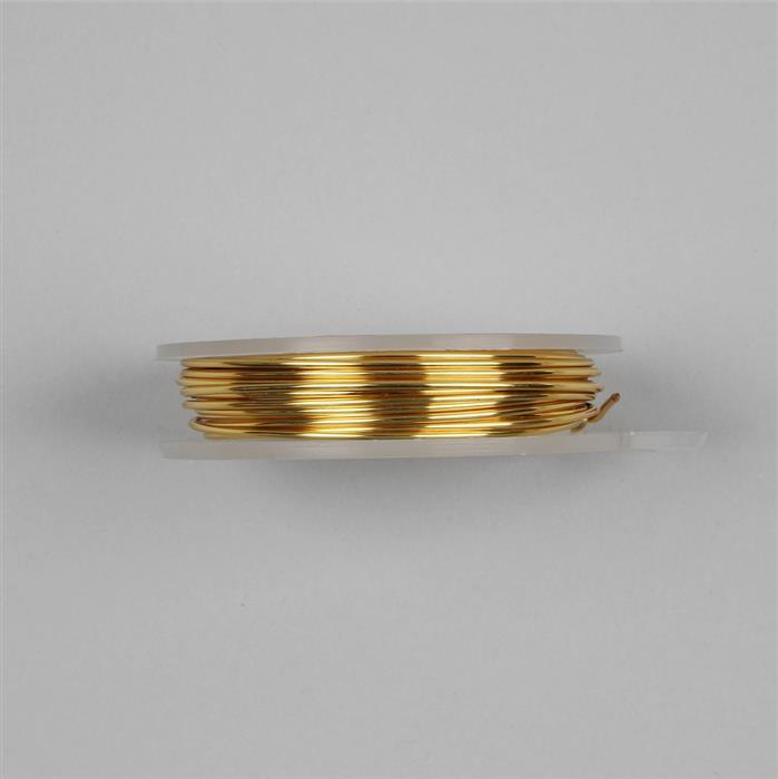 Gold Coloured Silver Plated Copper Wire - 1.5mm (1.5m)