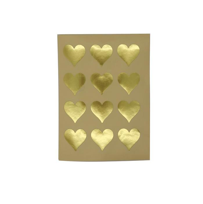 Gold Stickers 60 pcs, Approx 25x25mm
