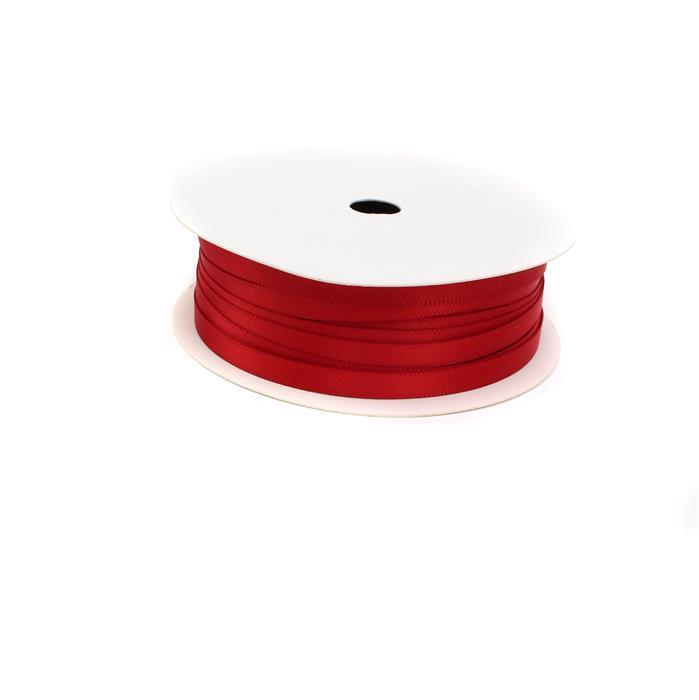 20m Red Double Faced Satin Width Approx 5mm
