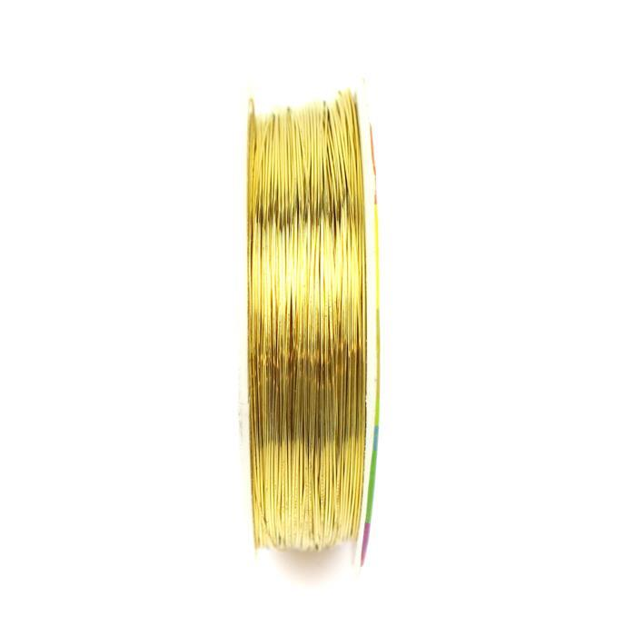 50m Gold Plated Copper Wire 0.4mm
