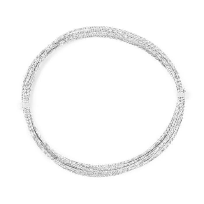 3m Silver Plated Braided Wire 0.6mm