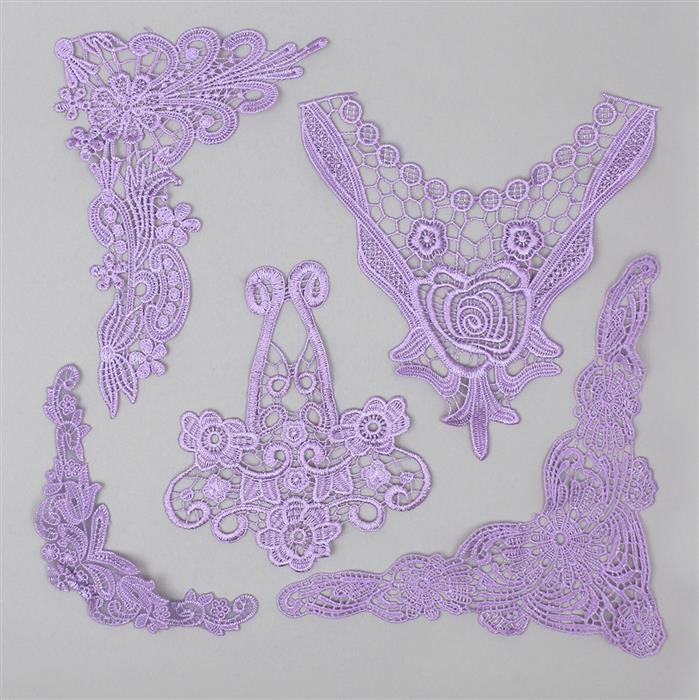 Hyacinth Filigree and Floral Lace Bundle (Set of 5)