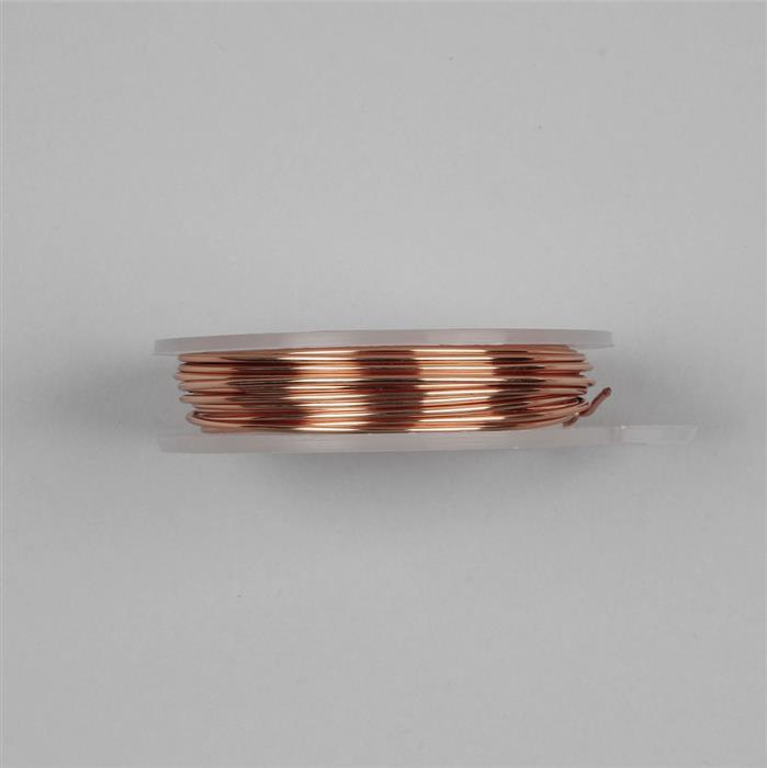 3m Rose Gold Coloured Copper Wire Approx 1.25mm
