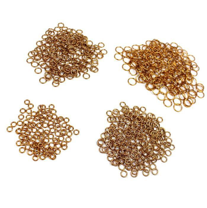 Antique Bronze Colour Plated Copper Open Jump Rings Collection! Inc; 3mm, 4mm, 5mm and 7mm