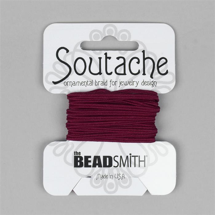 Rayon Soutache Merlot 3 Yards 3mm