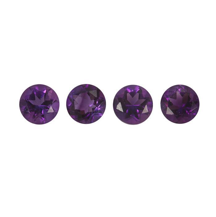 0.7cts Moroccan Amethyst Brilliant Round Approx 4x4mm