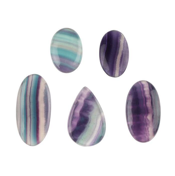 280cts Fluorite Multi Shape Cabochons Assortement.
