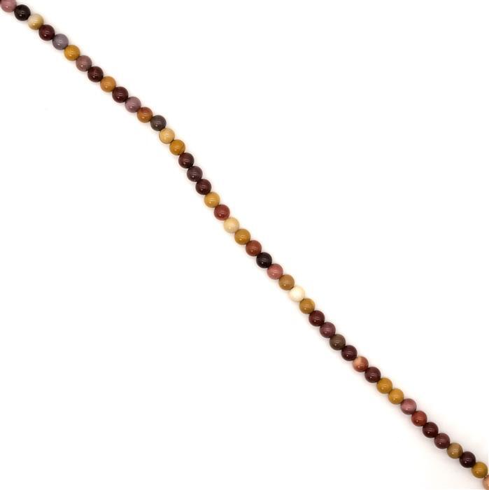 90cts Mookite Plain Rounds, Approx 6mm, 38cm strand