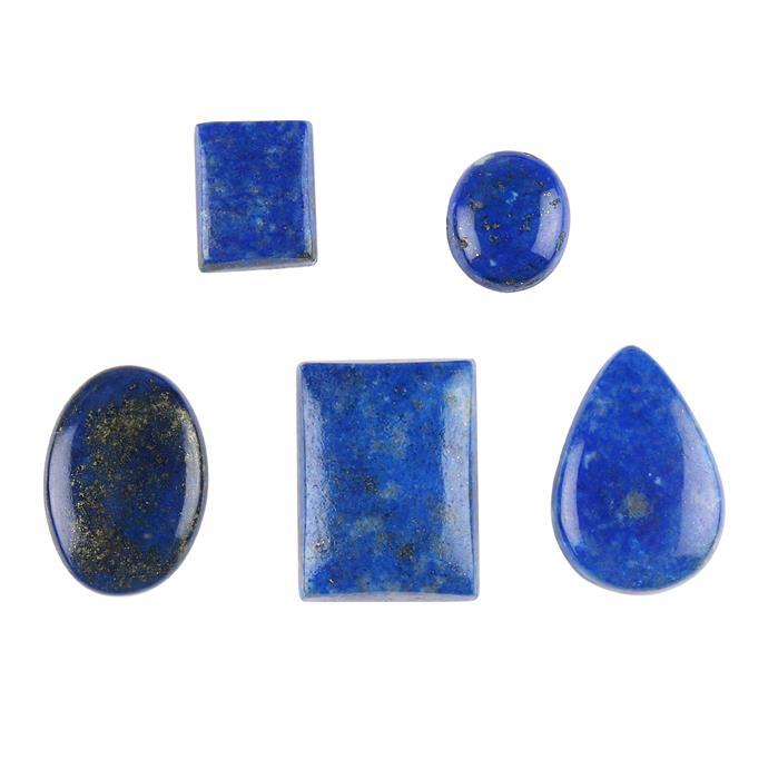 118cts Lapis Lazuli Multi Shape Cabochons Assortment.