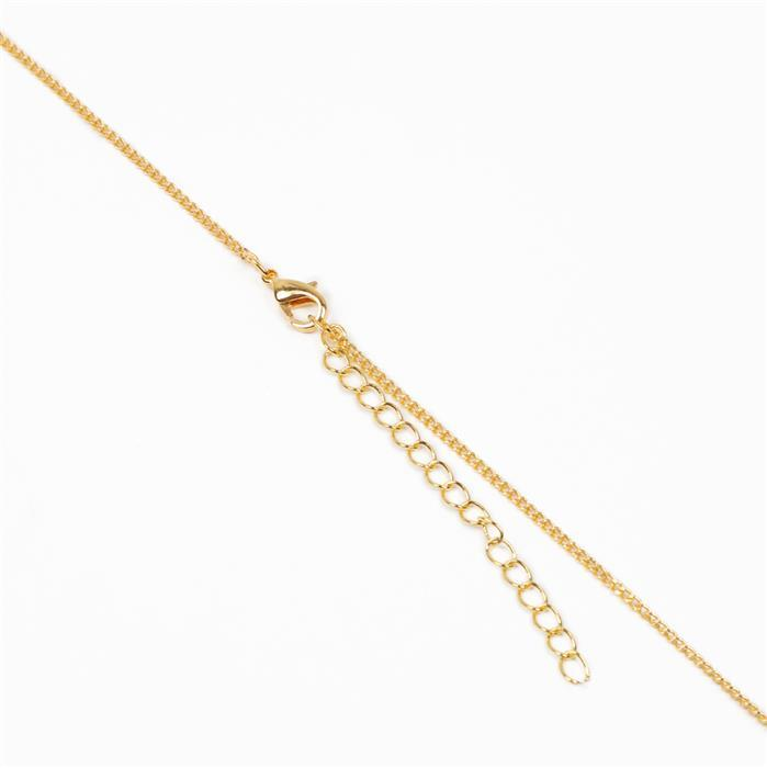 Gold Plated Curb Chain - 1x1.6mm (20