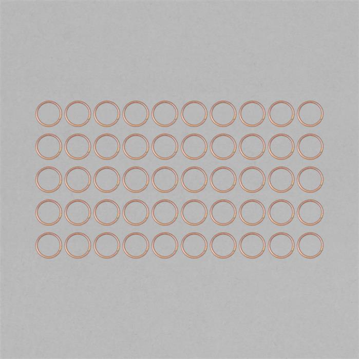 Bare Copper Hollow Open Jump Ring Approx 24mm & Thickness Approx 2mm (50pcs)