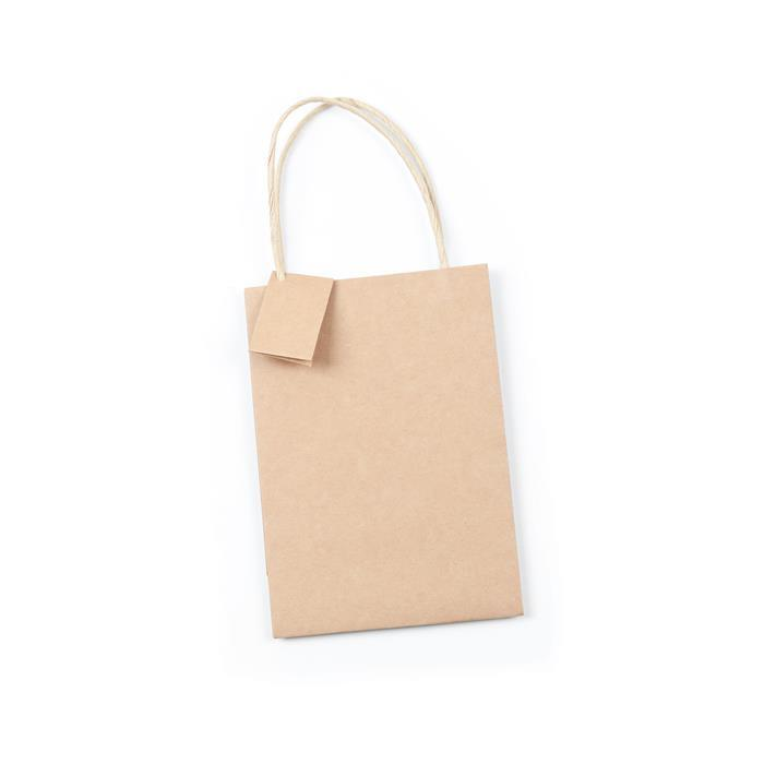 Essential Kraft Gift Bag, 152x76x216mm (10pk)