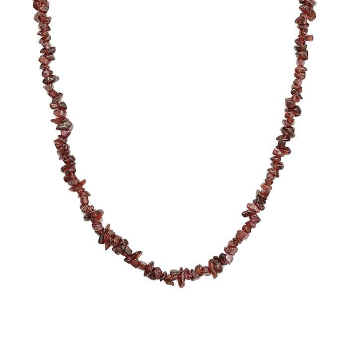 250cts Red Garnet Plain Small Nuggets Approx 2x1 to 9x2mm, 86cm Strand.