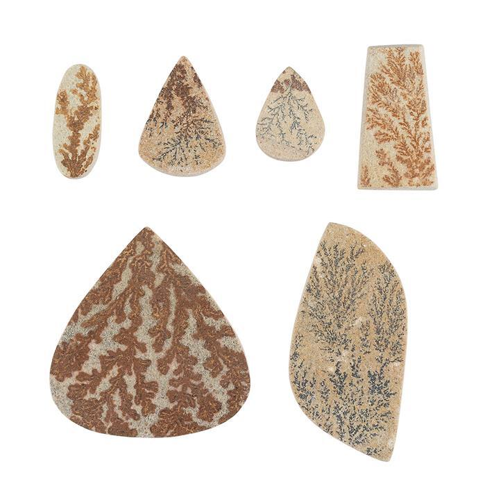 280cts Psilomelane Dendrite Multi Shape Gemstones Assortment.