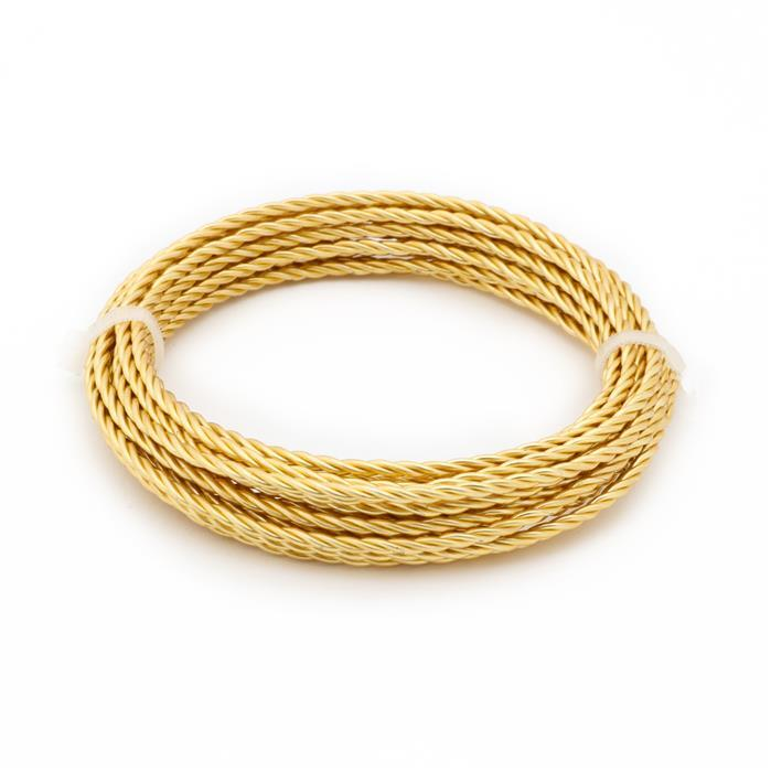 3m Gold Plated Copper Rope Wire Approx 1.00mm