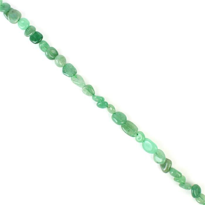 90cts Green Aventurine Small Nuggets Approx 8x5 to 10x9mm 38cm