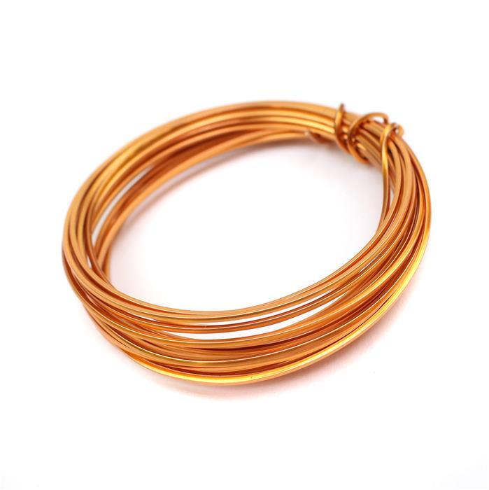 Copper Coloured Copper Square Wire - 1mm (3m)