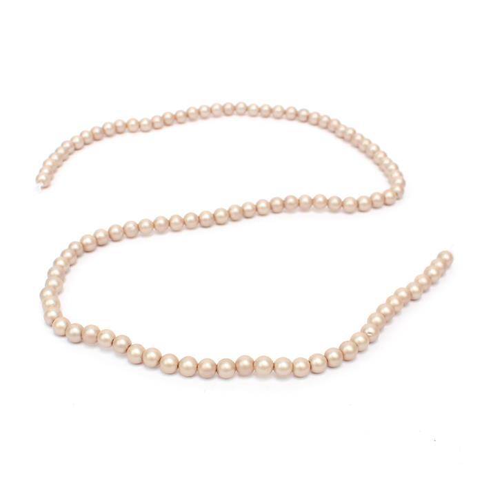 Twilight Matt Shell Pearl Plain Rounds Approx 4mm, 38cm length