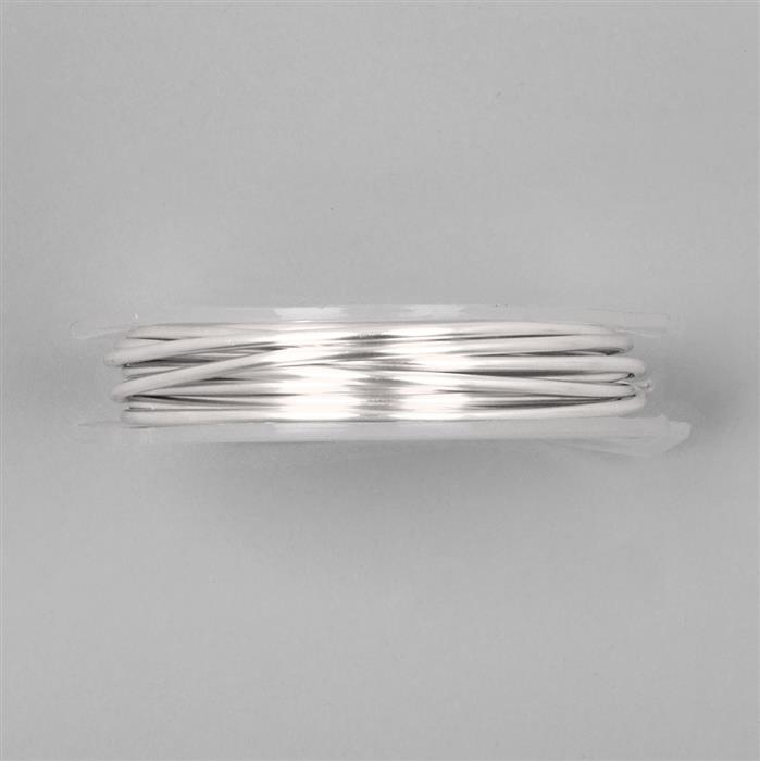 3m Silver Plated Copper Round Wire 2.00mm