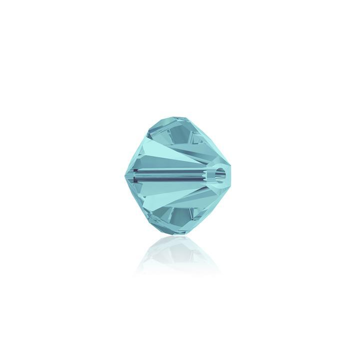Swarovski Crystal Beads - Pack of 24 Bicones 5328 - 6mm Light Turquoise