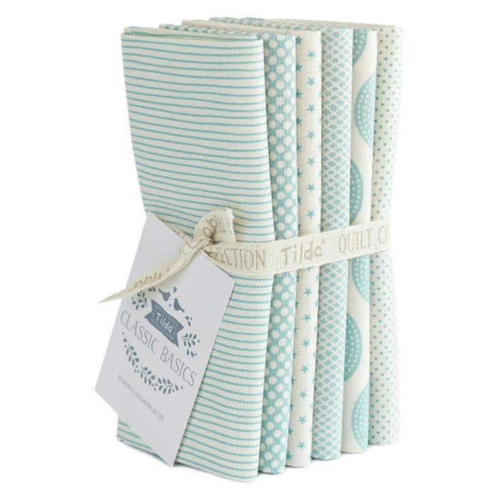 Tilda Classic Basics Blue Fat Quarter Bundle 6 Pieces