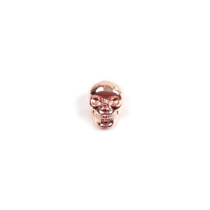 Rose Gold Plated 925 Sterling Silver Slider Bead 14x10mm, 1pk