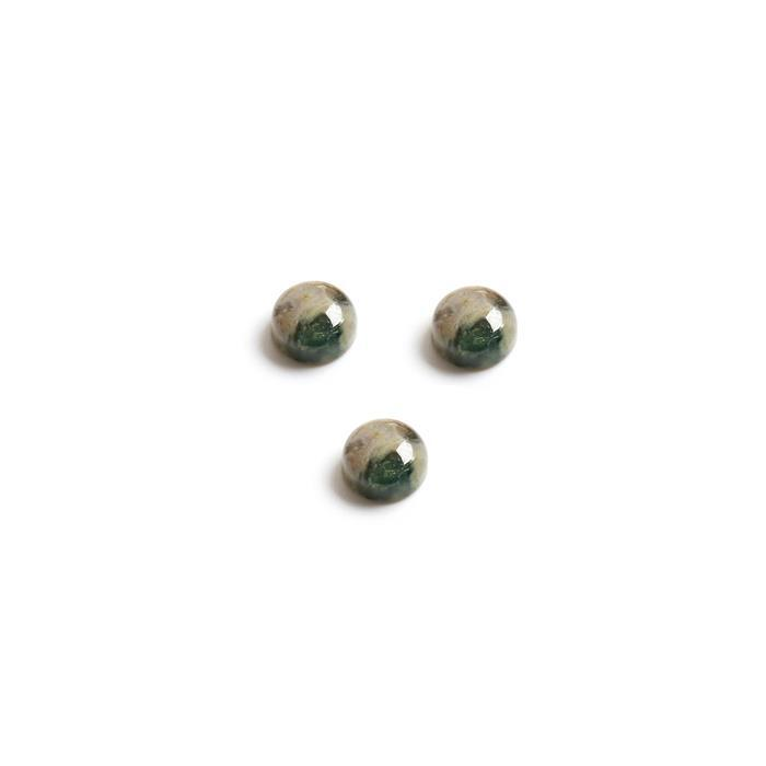 15cts Ocean Jasper Round Cabochons Approx 11mm. (Pack of 3)