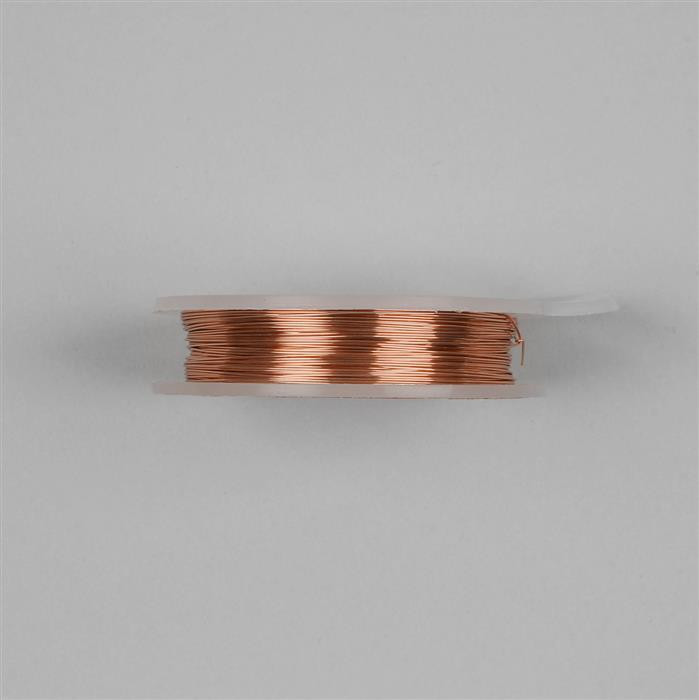 10m Rose Gold Colored Silver Plated Copper Wire 0.8mm