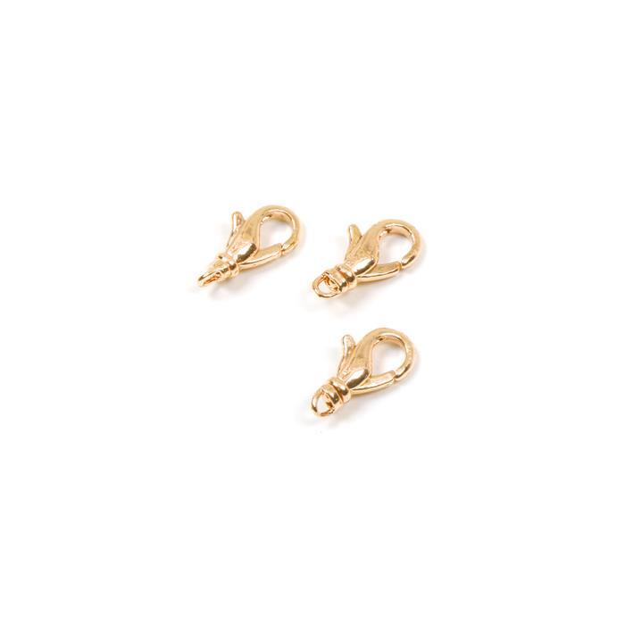 Gold coloured Swivel Lobster Clasp Approx 17mm, 3pk