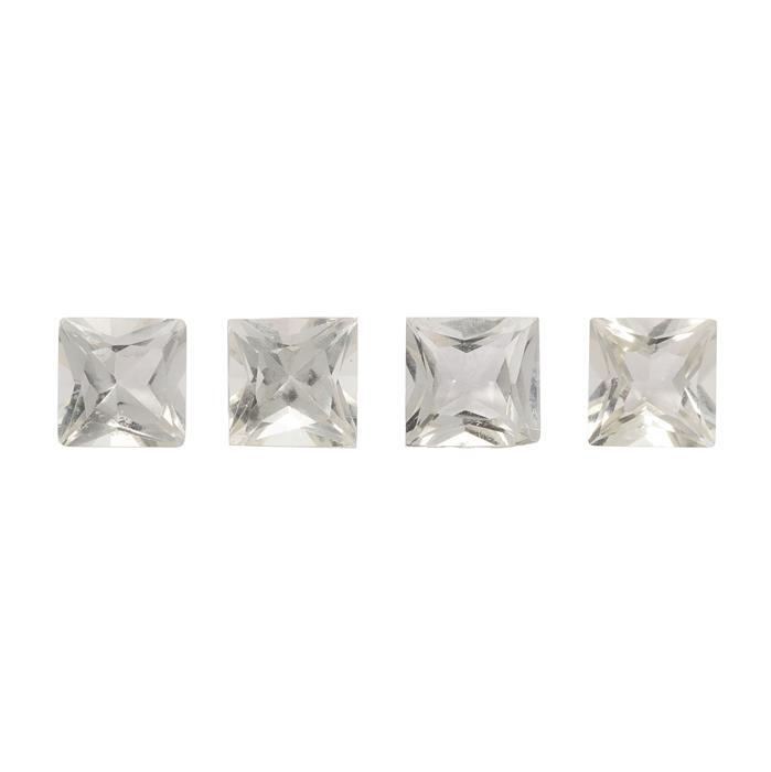 1.10cts Serenite Princess Square Approx 4x4mm 4 pack