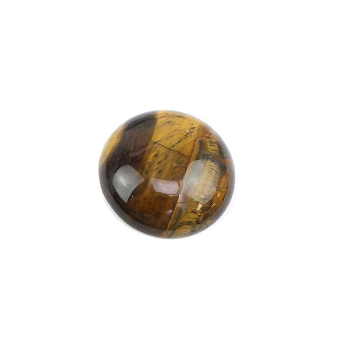 30cts Maple Tiger Eye Round Cabochon Approx 30mm