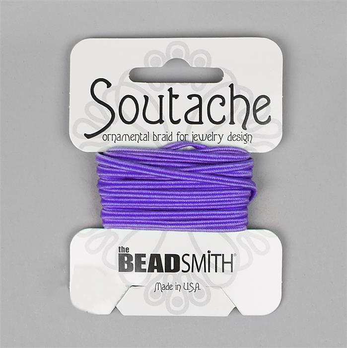 Polyester Soutache Dark Lilac 3 Yards 3mm