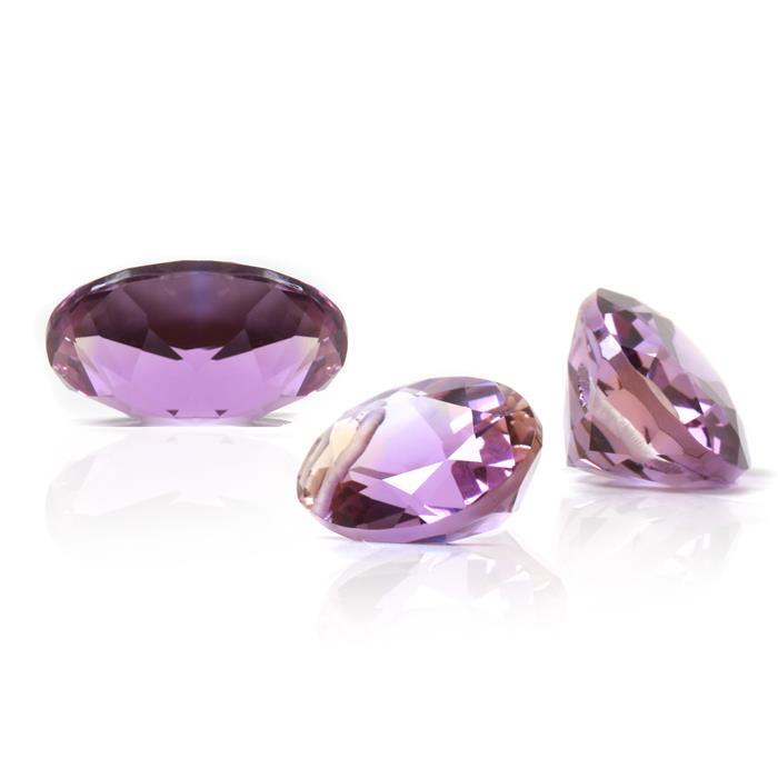Allure Collection. 10cts Ametrine Faceted Ovals Approx 14x10mm 3pcs