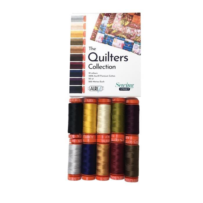 Aurifil Quilters Collection 10 x 200m Spools 50wt. Exclusive